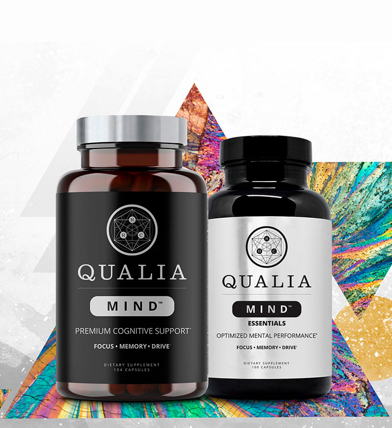 Qualia Mind and Qualia Mind Essential Bottles