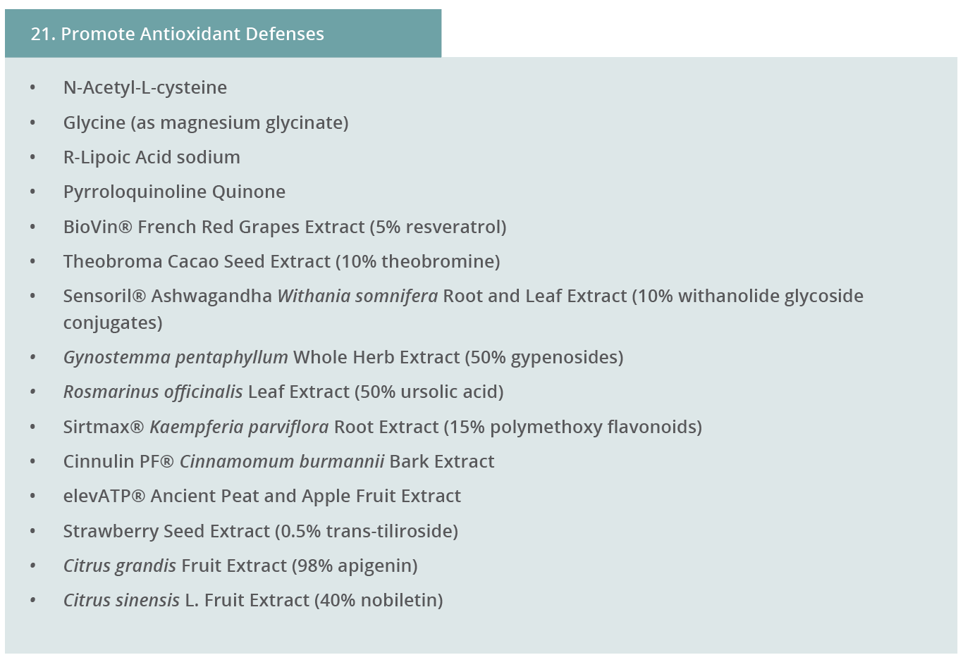 Image 21. Promote Antioxidant Defenses