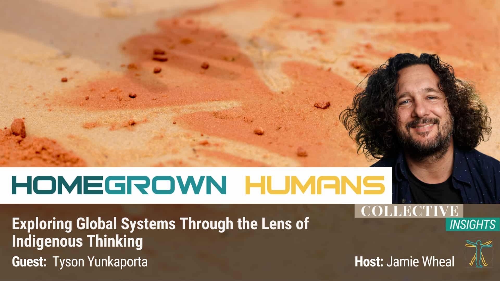 Title HomeGrown Humans - Tyson Yunkaporta - Indigenous Culture - Hosted by Jamie Wheal